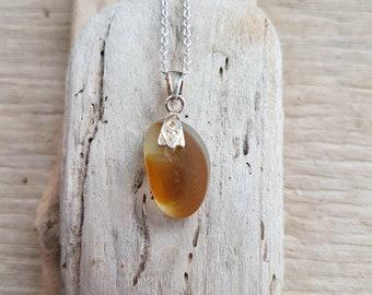 Seaham Multi, seaglass pendant, seaglass jewelry, seaglass, seaglass necklace, silver chain