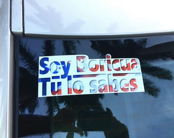 Soy boricua tu lo sabes. Let them know with this sticker. It really is really, really good!
