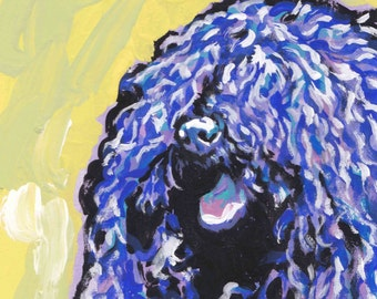 Puli dog art print of pop art dog painting by LEA bright colors 8.5x11""
