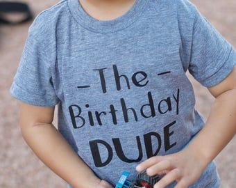 The Birthday Dude Shirt • Birthday Boy Shirt • Boys Birthday Shirt • Birthday Party Shirt • Kids Birthday Shirt • Three Year Old Shirt