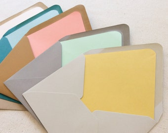 ADD-ON Envelope Liners for Stationery, Save the Date, Birth Announcement and Baptism Orders - Solid Colors - 20 or more