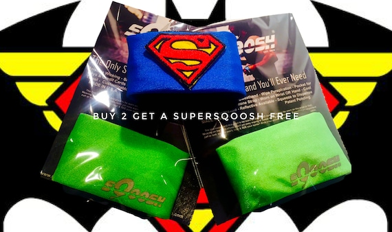 Pair of Lime sQoosh Sweatbands & Free Superman SUPERSQOOSH