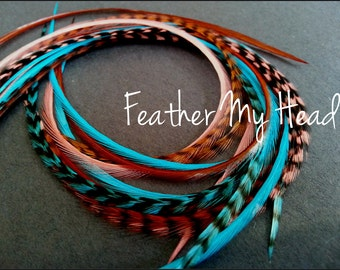 Feather hair extensions do it yourself diy kit 16 pc feather hair extensions do it yourself diy kit 16 pc thin feathers solutioingenieria Image collections