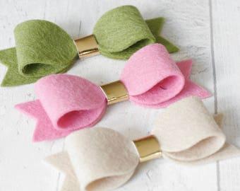 3 Felt Bow Set (Popeye, Blossom, Chai)