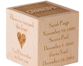Personalized Mother's Day Block Gift Personalized Mom Gift Personalized Grandmother Gift Mother's Day Gift for Grandmother Mother's Day Gift