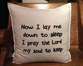 NOW I LAY ME 18x18 Pillow Case
