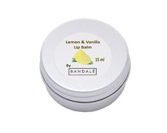 Lemon and Vanilla Lip balm
