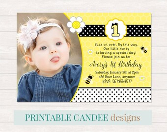 Bumble bee party invitation bumblebee birthday party invite bee birthday invitation bumble bee birthday bee party bee invitation girl bee filmwisefo Images