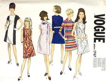 UNCUT Basic 1960's One Piece Dress Bust 36 Vogue 1767