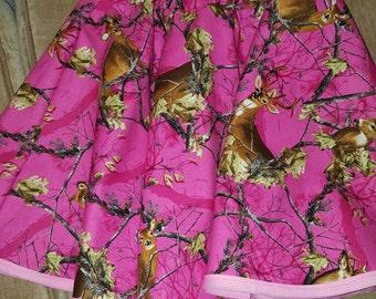 Pink Camo Skirt - Reversible skirt