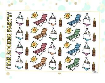 Summer Tanning Planner Stickers