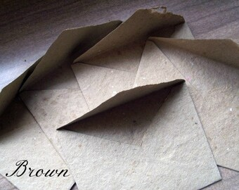 Set of 10 cut READY to SEAL envelopes AND paper, 4x5 inches, handmade paper, acid free paper, homemade paper, handmade stationery, recycled