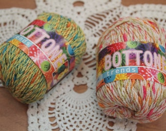 FREE SHIPPING (from the second ball)- Adriafil Bottone cotton knitting yarn  made in Italy - only 4.99 USD