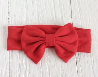 Baby bow headband red headband newborn headband infant headbands baby headwrap headband turban headband big bow headband