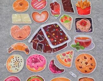 Cute Bling Dessert Snacks Stickers
