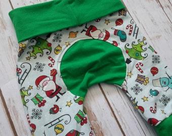 Miniloones Grow With Me Pants Christmas Santa Holiday Pant