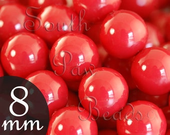 Style 5810 Gemcolors by Swarovski Elements, 8mm pearls, Red Coral (25)
