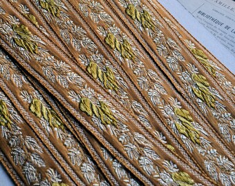 Vintage embroidered trim, made in France, 1980s