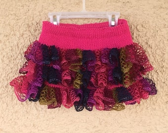 Pink Party Ruffles Skirt