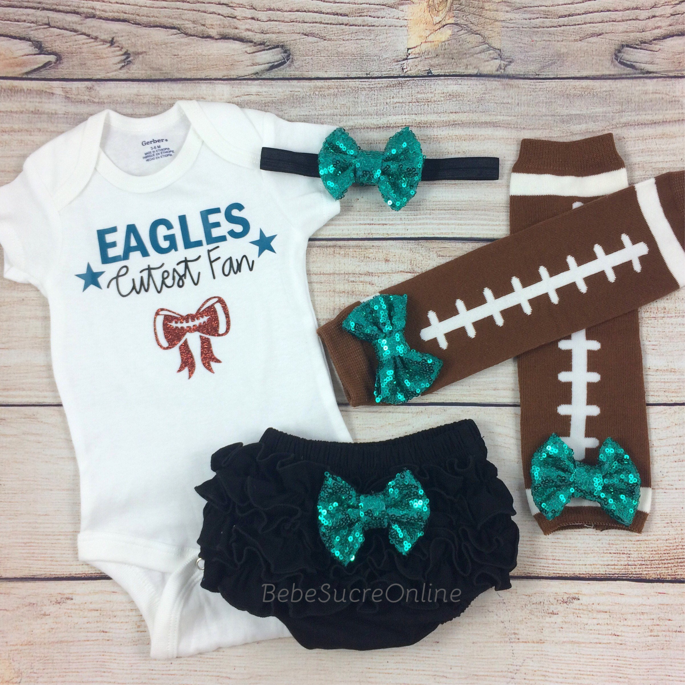 Eagles Cutest Fan Baby Girl Outfit Philadelphia Eagles Baby