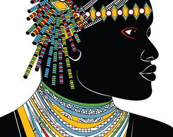 African Man - Art Card - Blank Inside