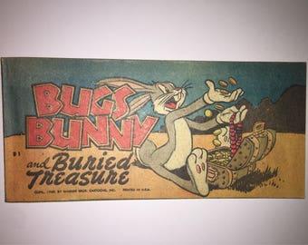 1949 Bugs Bunny and Buried Treasure B-1 Cheerios Quaker Puffed Wheat Rice promo Promotional mini pocket size Comic Book