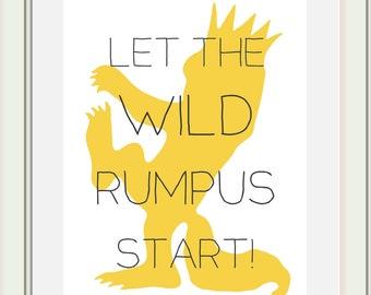 Where the Wild Things Are Nursery Printable, Wild Rumpus