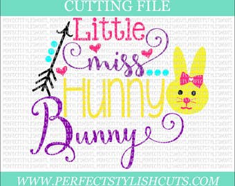 Little Miss Hunny Bunny SVG - Easter Svg, DXF, Eps, PNG Files for Cutting Machines Cameo or Cricut- Easter Girl svg, Easter Bunny Svg