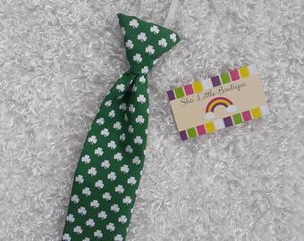 Baby/Toddler Shamrock Necktie; Baby/Toddler St. Patrick's Necktie
