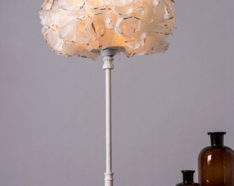 etsy ja white gold floor lamp paper lamp shade table desk light bedside mozeypictures Choice Image