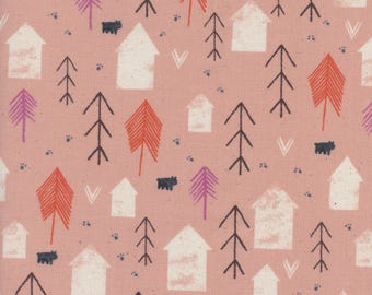Cozy - Neighbor in Peach - Sarah Watts - Cotton and Steel Fabrics - Fabric by the Half Yard
