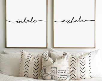 inhale exhale, inhale exhale print, pilates quote, yoga print, fitness print, inhale exhale poster, pilates Print, pilates art, bestselling