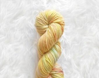 mango tango - peahen MCN yarn - merino cashmere nylon DK weight