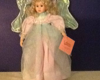 Heather the fairy child, Porcelain doll, Enchanted Faires by Patricia Rose, Paradise galleries treasury collection, COA