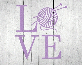 Love Knitting Decal
