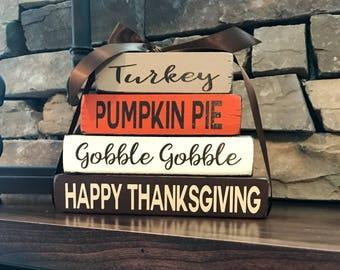 "Thanksgiving  ""MINI"" stacker-happy Thanksgiving gobble gobble"