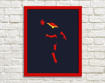 Captain Marvel Minimalist Print