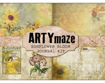 SUNFLOWER BLOOM full size Journal Kit INSTANT Download