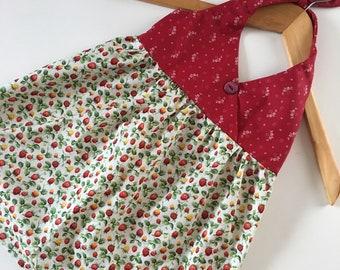 Girl's Halter Dress - Size 2T - Strawberries