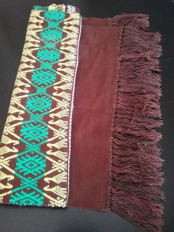 Southwestern Table Runner, Retro Table Runner, Handwoven Style Table Runner, Vintage Table Linen, Tribal Style Table Runner, Rustic Linen