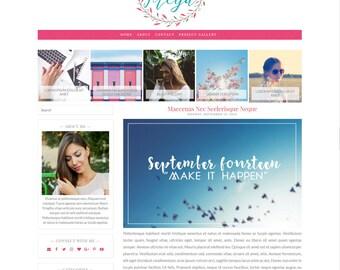 Florist Freya Responsive Blogger Theme - Premade Blogger Theme