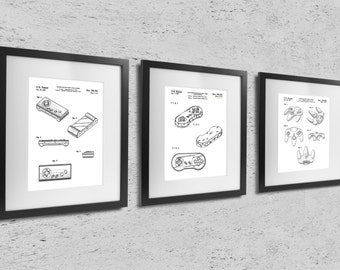 Controllers for Video Game Machine Patents - Three Prints
