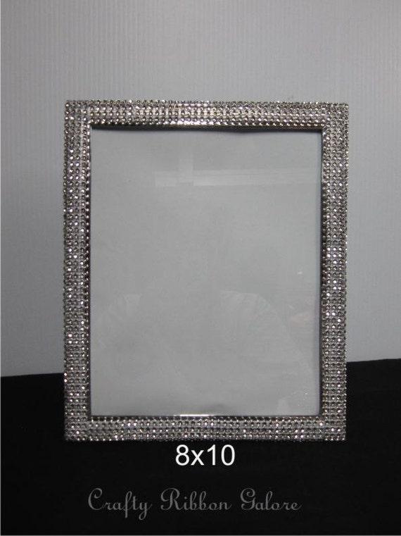8x 10 Wedding Portrait Frame Silver Rhinestone Wedding
