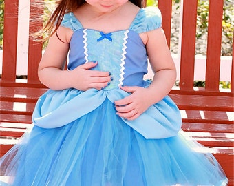 CINDERELLA  dress, Cinderella costume,  Princess dress, Cinderella TUTU dress, toddler girl dress