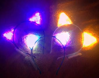 LED light up cat ears / Meowing From Mars