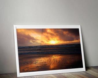 Sunset at the Coast print. digital download