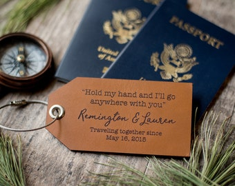 Personalized Custom Leather Luggage Tags | Hold My Hand