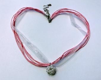 Ballet TuTu charm Necklace **Pink**