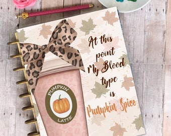 Planner Cover/ Wild and Free/planner/ laminated/ Pumpkin Latte