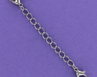 Necklace or Bracelet 3 inch Extender with Lobster Clasps